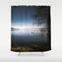 frame Shower Curtains featuring The frame by HappyMelvin