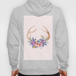Antlers with Flowers Hoody