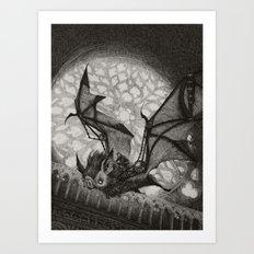 The Bat Rider  Art Print