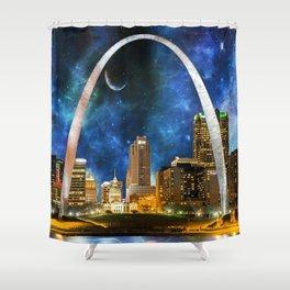 Spacey St. Louis Skyline Shower Curtain