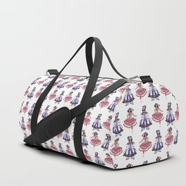 Theater. Circus. Dancing Girl Pattern Duffle Bag