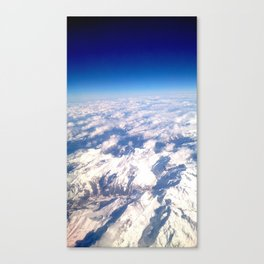 Alps from above Canvas Print
