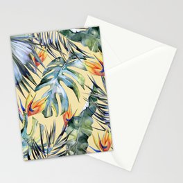 TROPICAL GARDEN 4 Stationery Cards