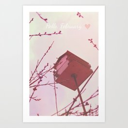 Hello, February Art Print