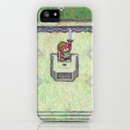 The Legend of Zelda A Link to the Past Master Sword Impressionist Painting iPhone Case