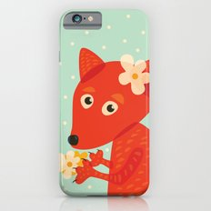 Cute Fox And Flowers iPhone 6s Slim Case
