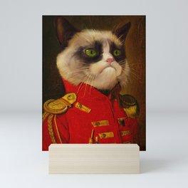 The cat is Grumpy Mini Art Print