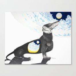 Moon Weenie Canvas Print