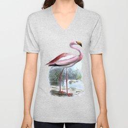 Puna Flamingo Unisex V-Neck