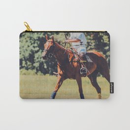 Chestnut Polo Pony Carry-All Pouch