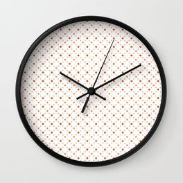 Criss Cross Dots Wall Clock