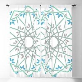 Decorative leaf Mandala Blackout Curtain