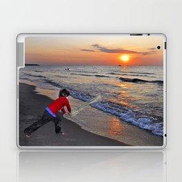 LITTLE DEVIL ON THE SUNSET BEACH Laptop & iPad Skin