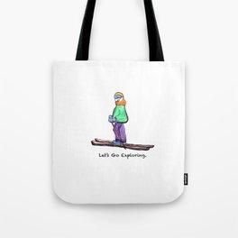 Fan's exploration- Skiing in Lake Tahoe California Tote Bag