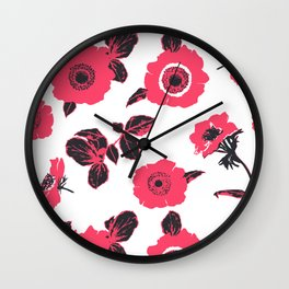 Anemones Wall Clock