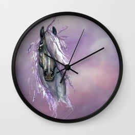 Violet Horse Wall Clock