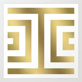 Gold Greek Stripes Kunstdrucke