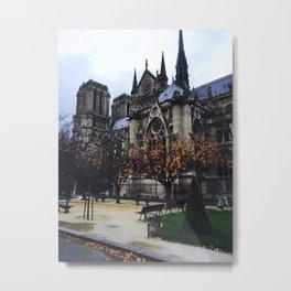 Notre Dame in Autumn Metal Print