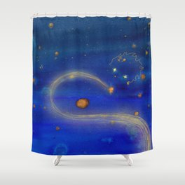 Le petit prince illustration painting art drawing Shower Curtain