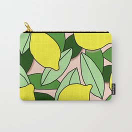 Lemons - Lemon Pattern - January Carry-All Pouch