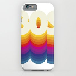80s Style. Vintage design. iPhone Case
