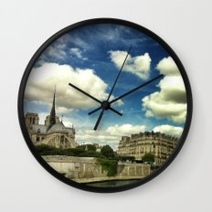 From the river Seine Wall Clock