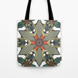 Revive the Gothic Revival in Sage Tote Bag
