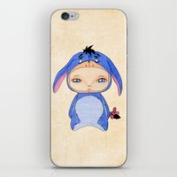 eeyore iPhone & iPod Skins featuring A Boy - Eeyore by Christophe Chiozzi
