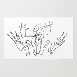 Frog skeleton Rug