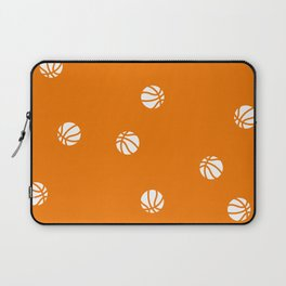 Basketball Orange Pattern Dribble Ball Court Hoops Game Laptop Sleeve