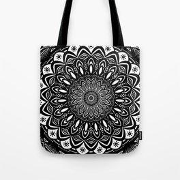 Bold Mandala Black and White Simple Minimal Minimalistic Tote Bag