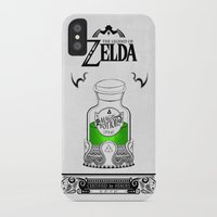 the legend of zelda iPhone & iPod Cases featuring Zelda legend - Green potion  by Art & Be