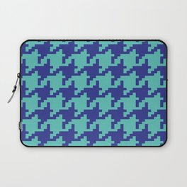 Houndstooth - Blue & Turquoise Laptop Sleeve