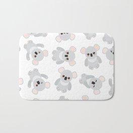 Seamless pattern - Funny cute koala on white background Bath Mat