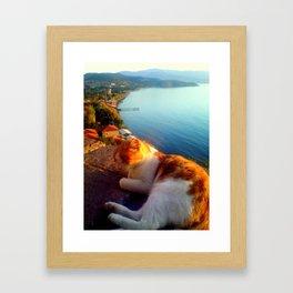 Lazing in Lesvos Framed Art Print