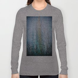 Blue wall brown vines Long Sleeve T-shirt