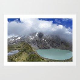 Montañas puras Art Print