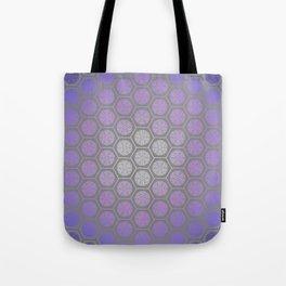 Hexagonal Dreams - Purple Blue Gradient Tote Bag