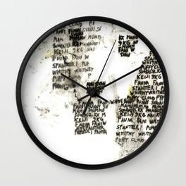 Call You Names Wall Clock
