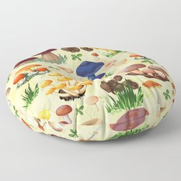 Collection of mushroom colorful fall pattern Floor Pillow