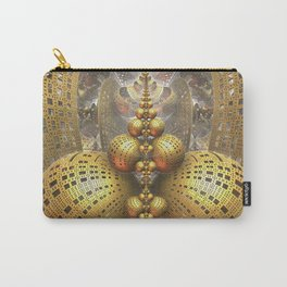 Gold Fractals Carry-All Pouch