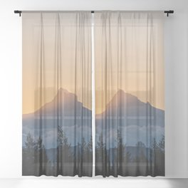 Mount Hood Pacific Northwest XII - Wanderlust Adventure Sheer Curtain