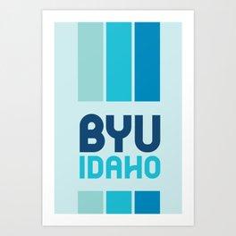 BYU-Idaho Cool Blue Art Print