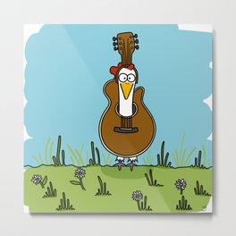 Eglantine la poule (the hen) disguised as a guitare. Metal Print