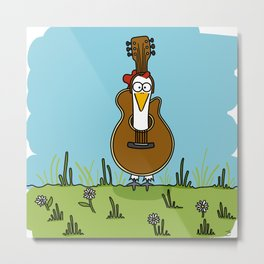 Eglantine la poule (the hen) disguised as a guitare. Metal Print