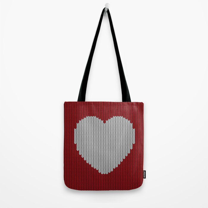Wool Heart Tote Bag