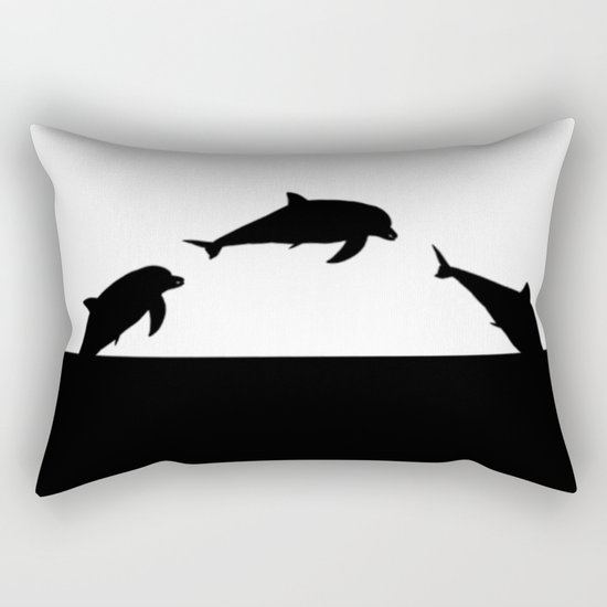 Dolfin Jumps Rectangular Pillow