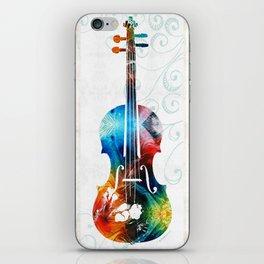 Colorful Violin Art by Sharon Cummings iPhone Skin