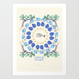 yoga garden II Art Print