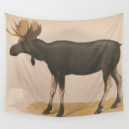 Vintage Illustration of a Moose (1874) Wall Tapestry